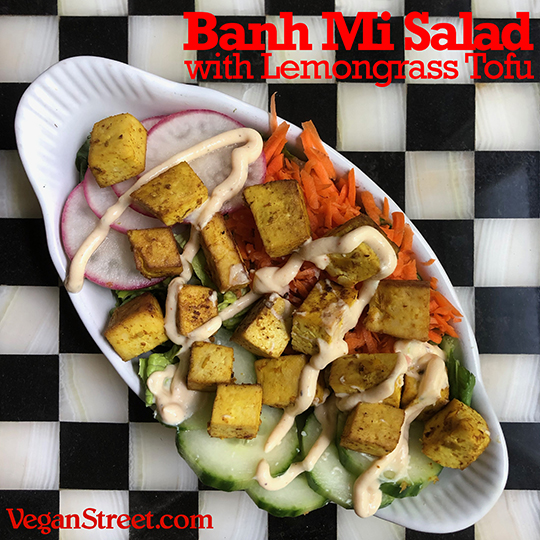 Banh Mi Salad with Lemongrass Tofu